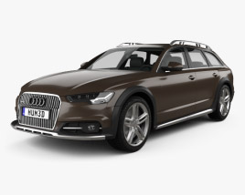 3D model of Audi A6 (C7) Allroad 2015