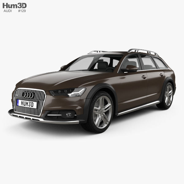 3D model of Audi A6 (C7) Allroad 2015