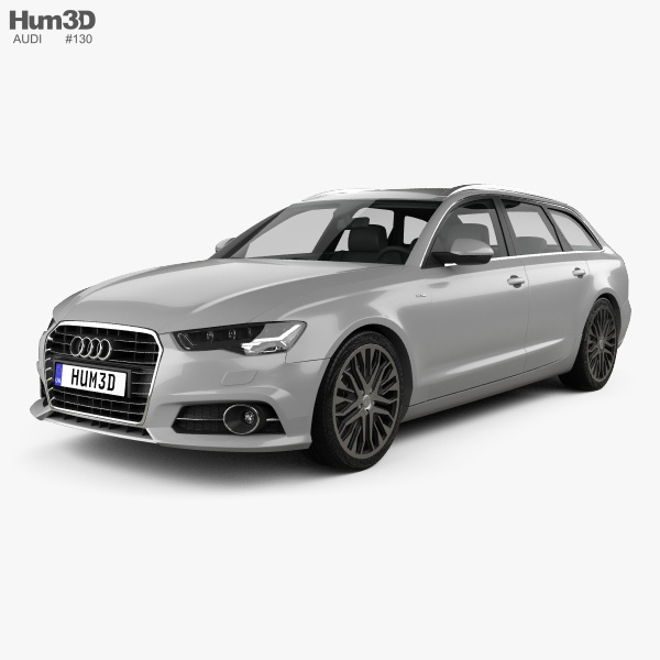 3D model of Audi A6 (C7) avant 2015
