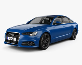 3D model of Audi A6 (C7) saloon 2015