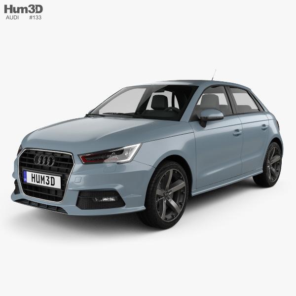 3D model of Audi A1 Sportback 2015