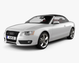 3D model of Audi A5 Cabriolet with HQ interior 2009