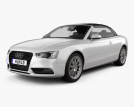 3D model of Audi A5 Cabriolet with HQ interior 2012