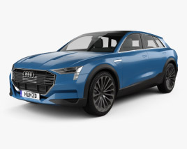 3D model of Audi E-tron Quattro 2015