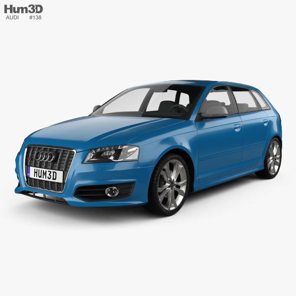 3D model of Audi S3 Sportback 2008