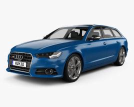 3D model of Audi S6 (C7) Avant 2014