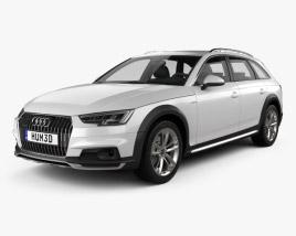 3D model of Audi A4 (B9) Allroad 2017