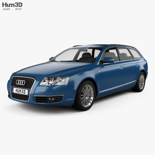 3D model of Audi A6 (C6) Avant 2005