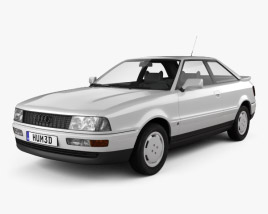 3D model of Audi Coupe (8B) 1988