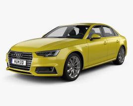 3D model of Audi A4 S-Line 2016