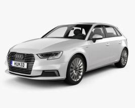 3D model of Audi A3 Sportback e-tron 2016