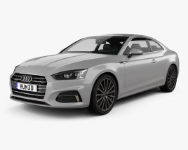 3D model of Audi A5 Coupe 2016