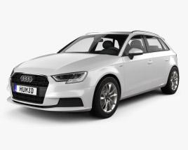 3D model of Audi A3 Sportback g-tron 2016
