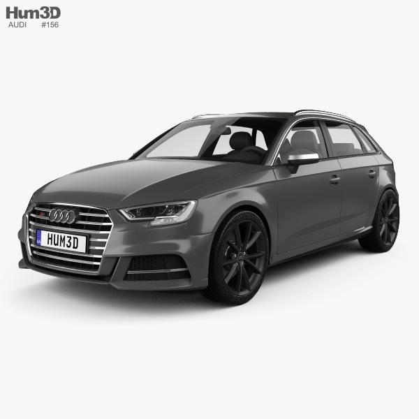 3D model of Audi S3 Sportback 2016