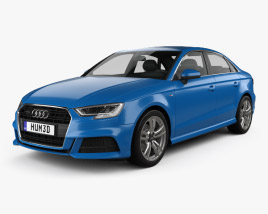 3D model of Audi A3 S-Line 2016
