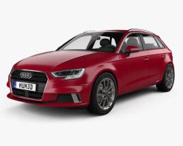 3D model of Audi A3 Sportback 2016