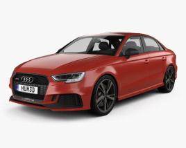 3D model of Audi RS3 Sedan 2017
