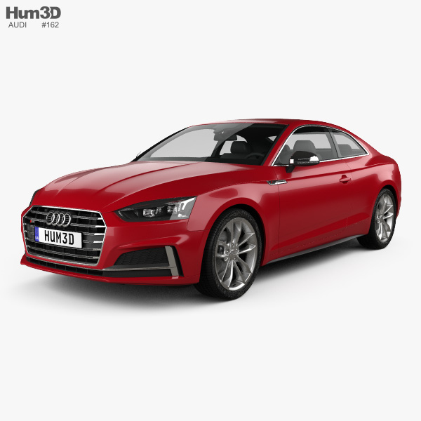 3D model of Audi S5 coupe 2017