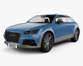 3D model of Audi Allroad Shooting Brake 2014
