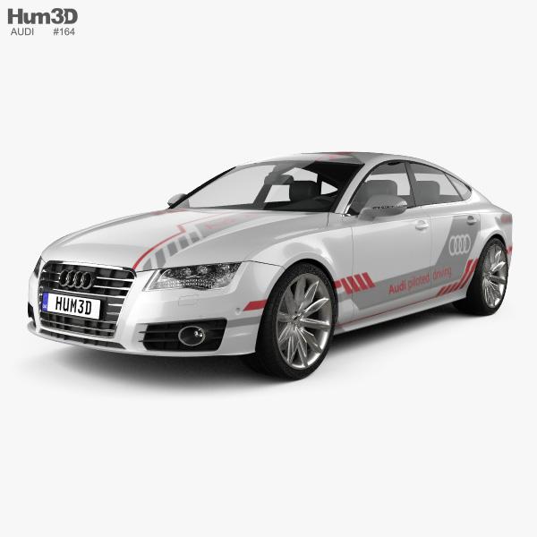 Audi A7 Sportback Piloted Driving Concept 2016 3D model