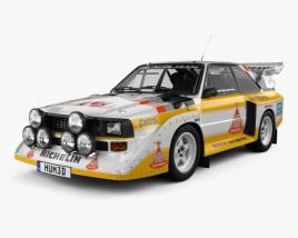3D model of Audi Quattro Sport S1 E2 1985