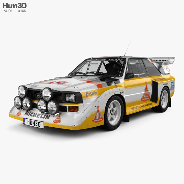 Audi Quattro Sport S1 E2 1985 3D model