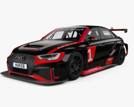 3D model of Audi RS3 LMS 2017