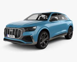3D model of Audi Q8 concept 2017