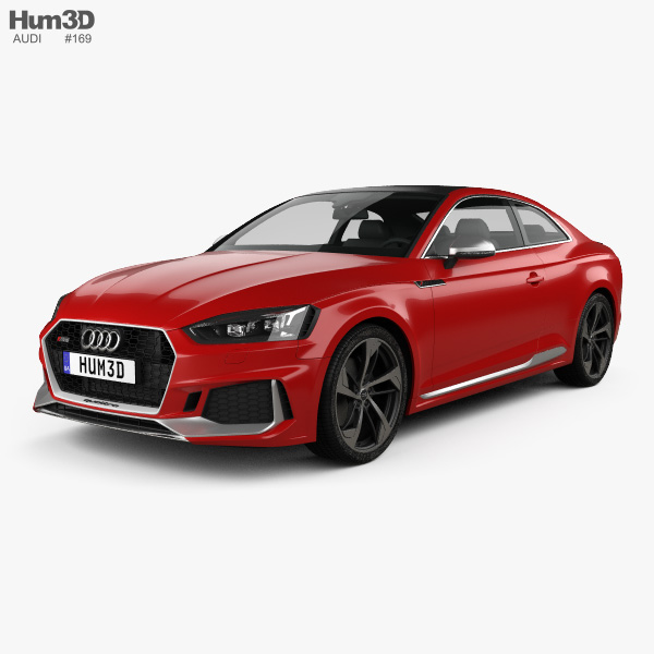 3D model of Audi RS5 Coupe 2017
