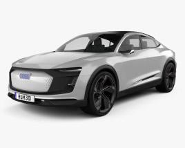 3D model of Audi E-tron Sportback 2017