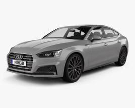 3D model of Audi A5 Sportback 2017