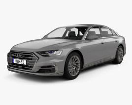 3D model of Audi A8 (D5) L 2018