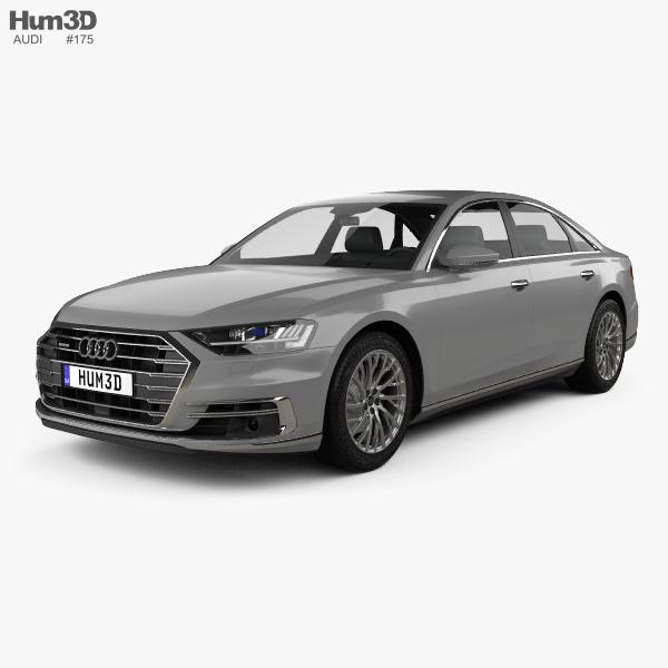 Audi A8 (D5) L 2018 3D model