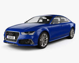 3D model of Audi RS7 (4G) Sportback Performance 2015