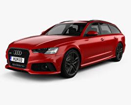 3D model of Audi RS6 (C7) avant 2015