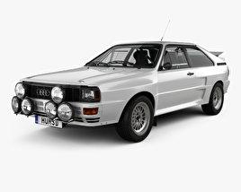 3D model of Audi Quattro A2 1981