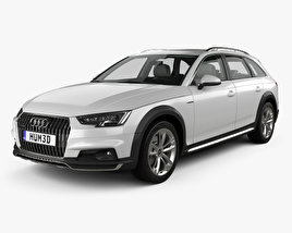 3D model of Audi A4 (B9) Allroad with HQ interior 2017