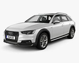 3D model of Audi A4 (B9) Allroad with HQ interior 2017