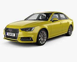 Audi A4 (B9) S-line saloon avec Intérieur 2016 Modèle 3D