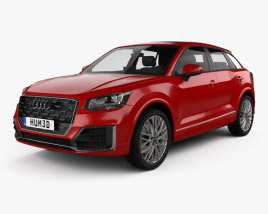3D model of Audi Q2 S-Line with HQ interior 2017