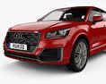 Audi Q2 S-Line with HQ interior 2017 3d model