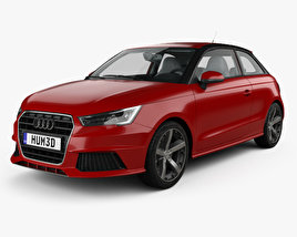 3D model of Audi A1 3-door with HQ interior 2015