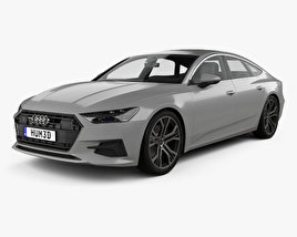 3D model of Audi A7 Sportback 2018
