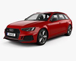 3D model of Audi RS4 Avant 2018