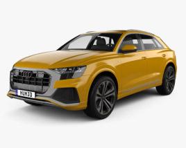 3D model of Audi Q8 S-line 2018