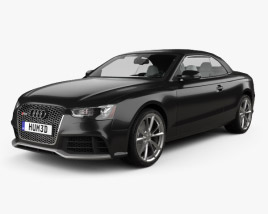 3D model of Audi RS5 cabriolet with HQ interior 2012