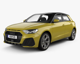 3D model of Audi A1 Sportback S-line 2018