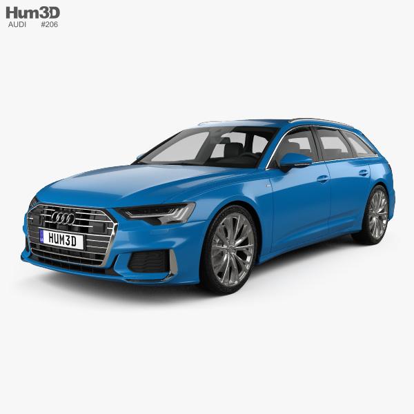 3D model of Audi A6 S-Line avant 2018