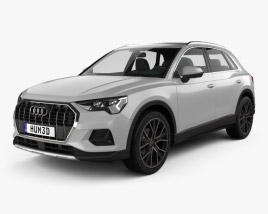 3D model of Audi Q3 Advanced 2018