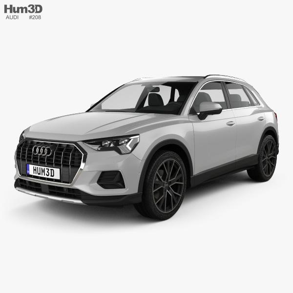 3D model of Audi Q3 Advanced 2018